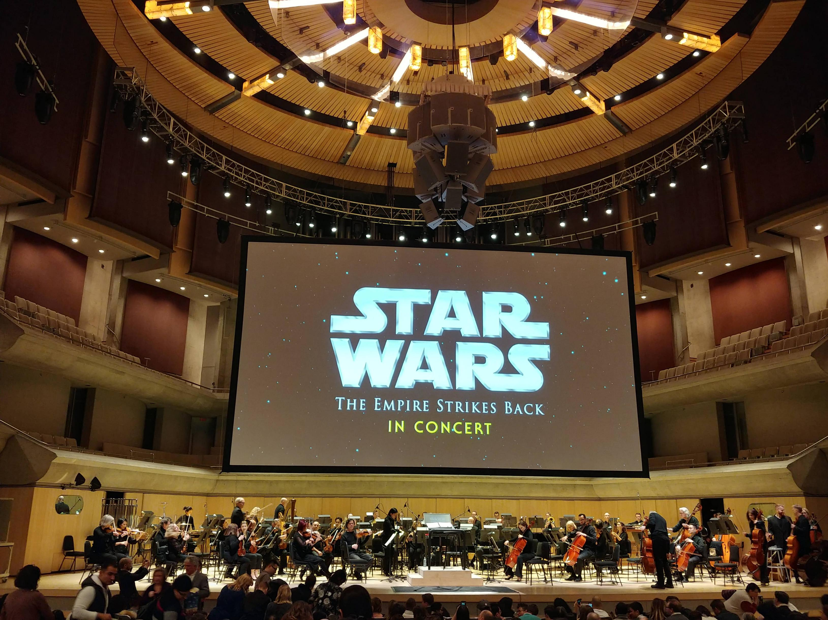 I watched The Empire Strikes Back with a live orchestra! Hearing the score in person left me awestruck