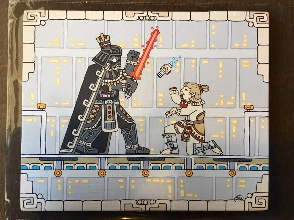 Maya interpretation of one of my favorite moments in Star Wars painted by my wife.