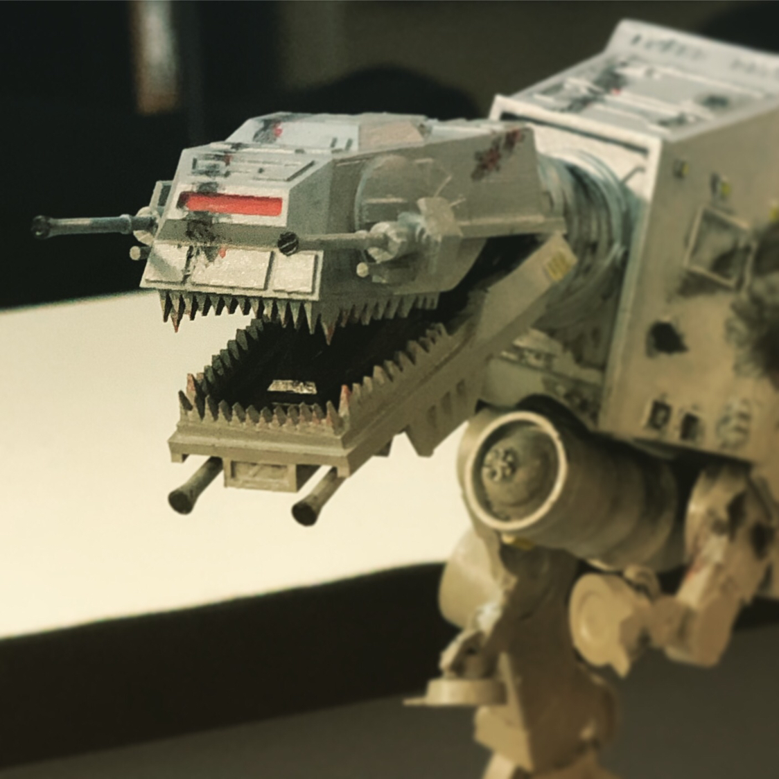 A painted model of an awesome AT-REX design.