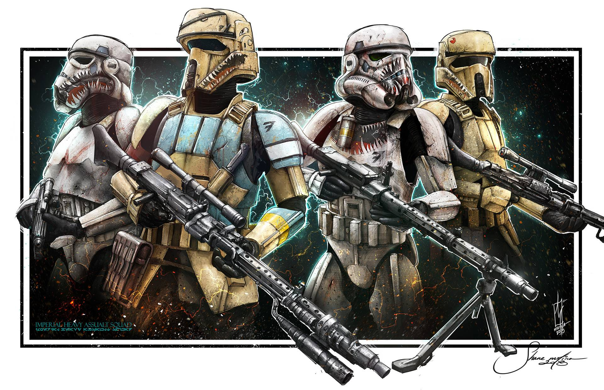 No idea who the artist is. Either way the shore troopers look sick!