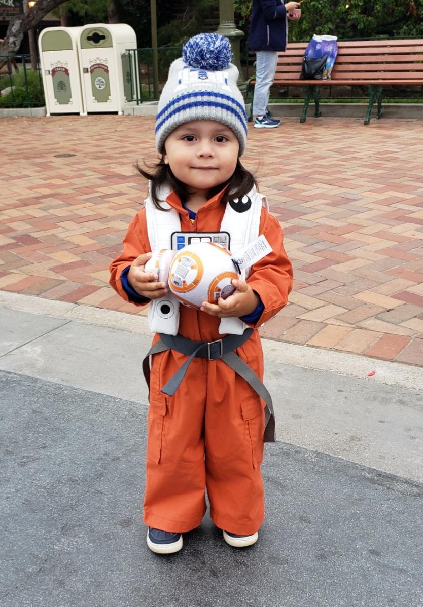 Resistance Pilot spotted in Disneyland