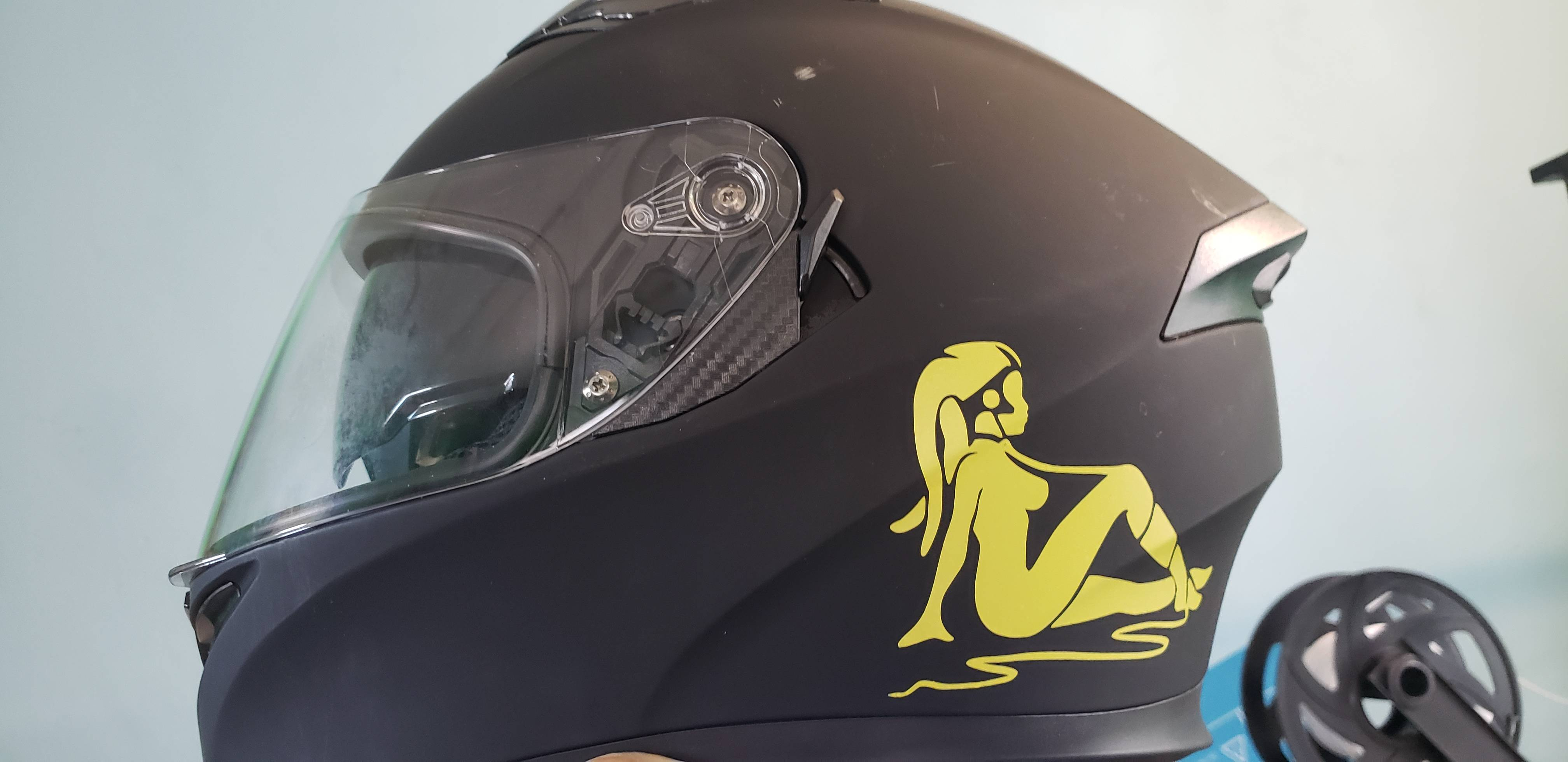 Added some flair to my helmet