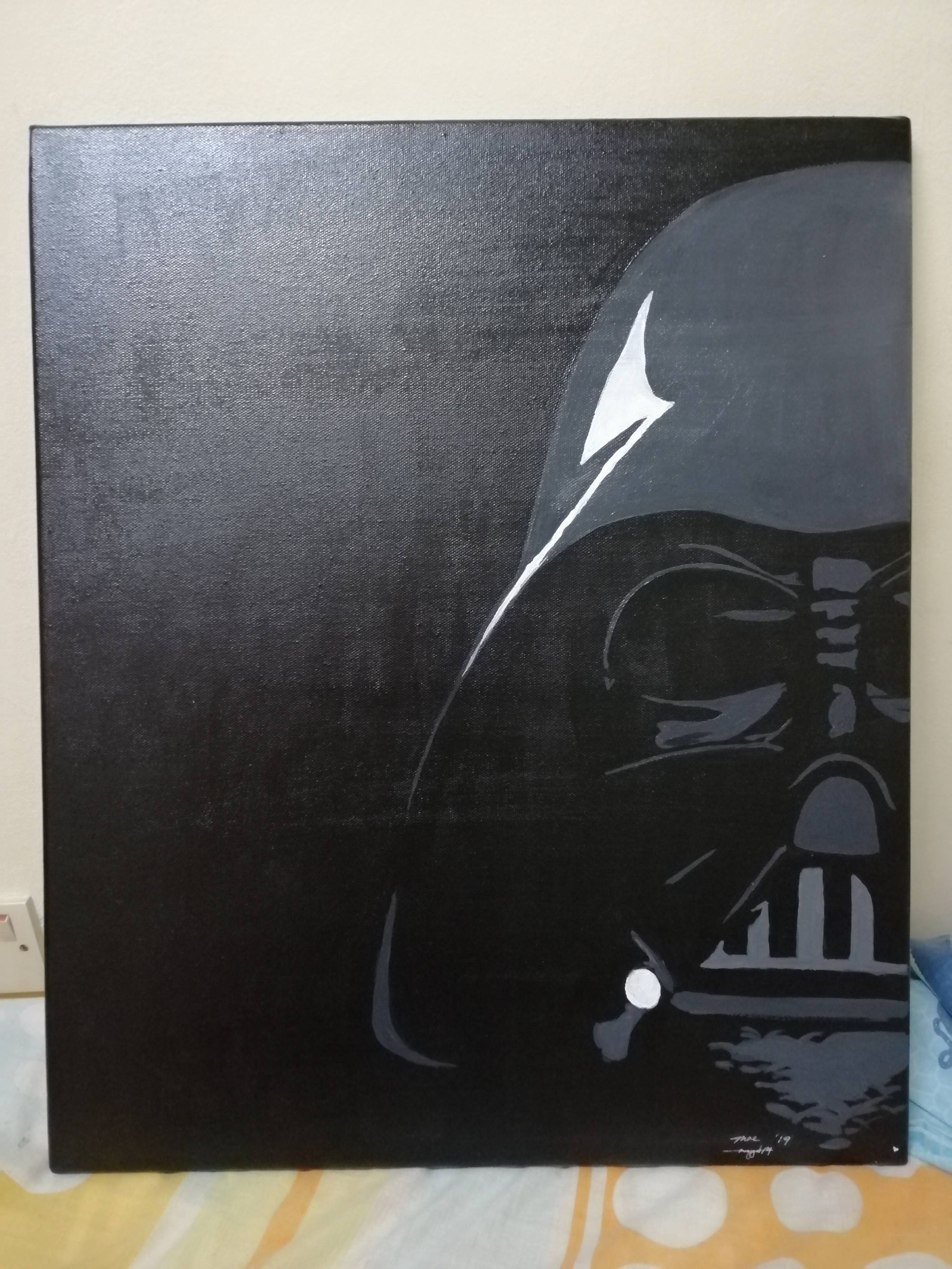 Gf painted Vader for our Anniversary. I think she\'s a keeper..