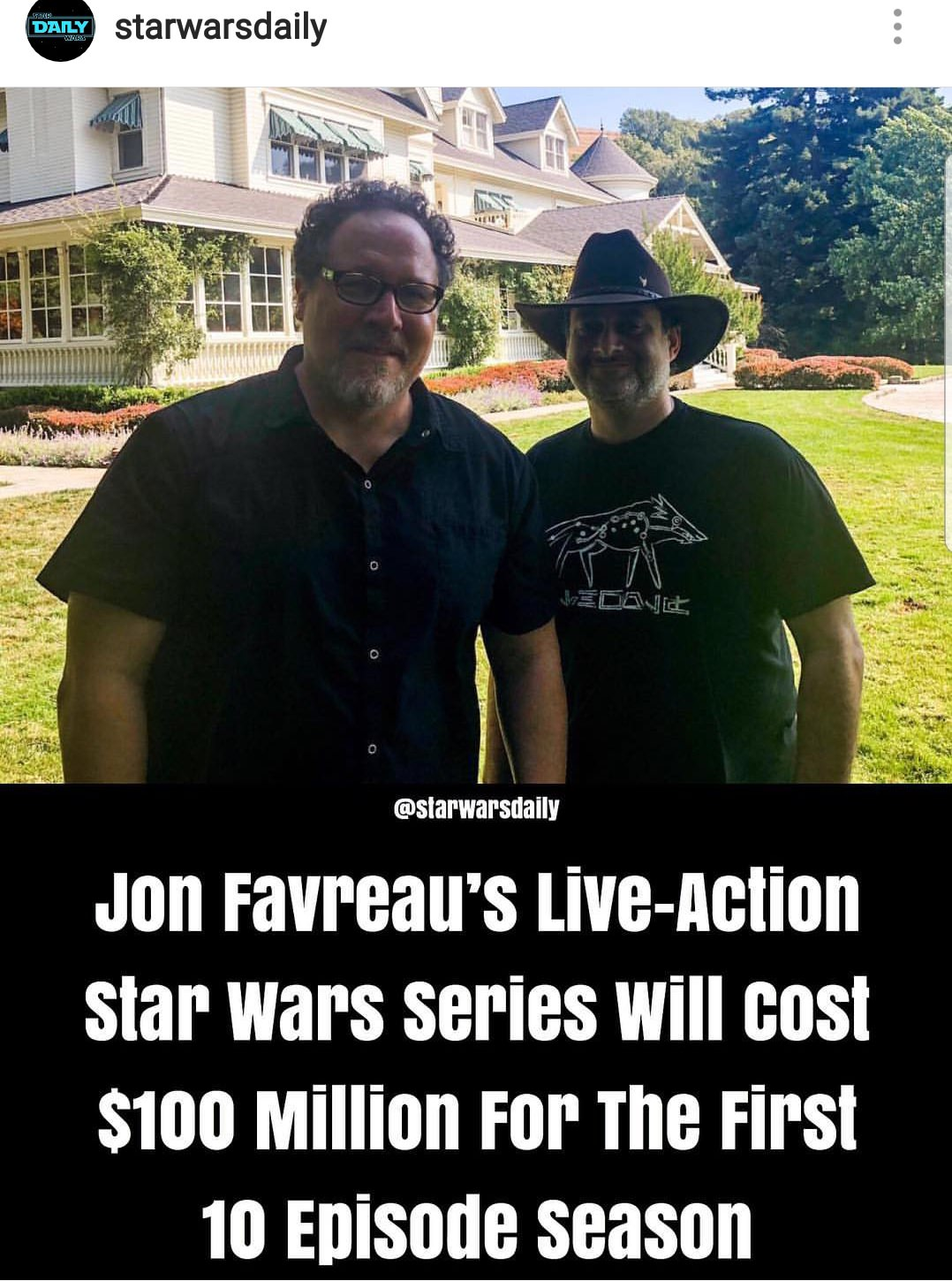 Star wars live action TV series update