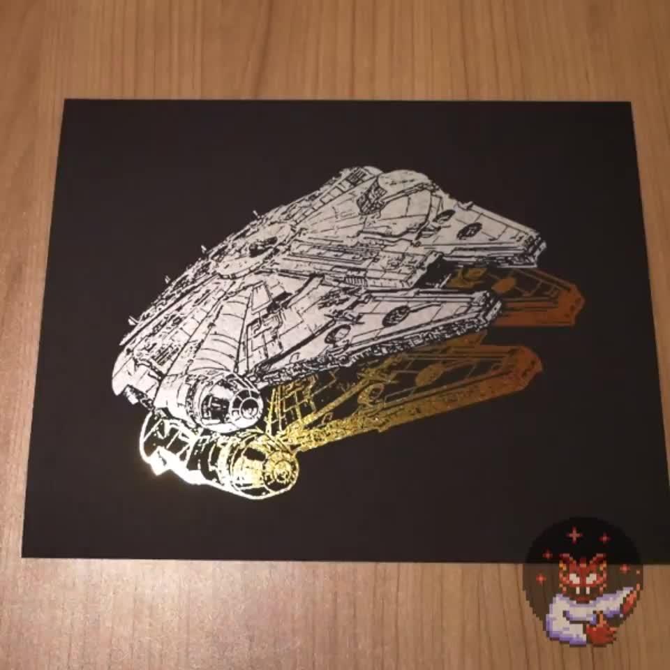 [OC] Millennium Falcon Foil Peel