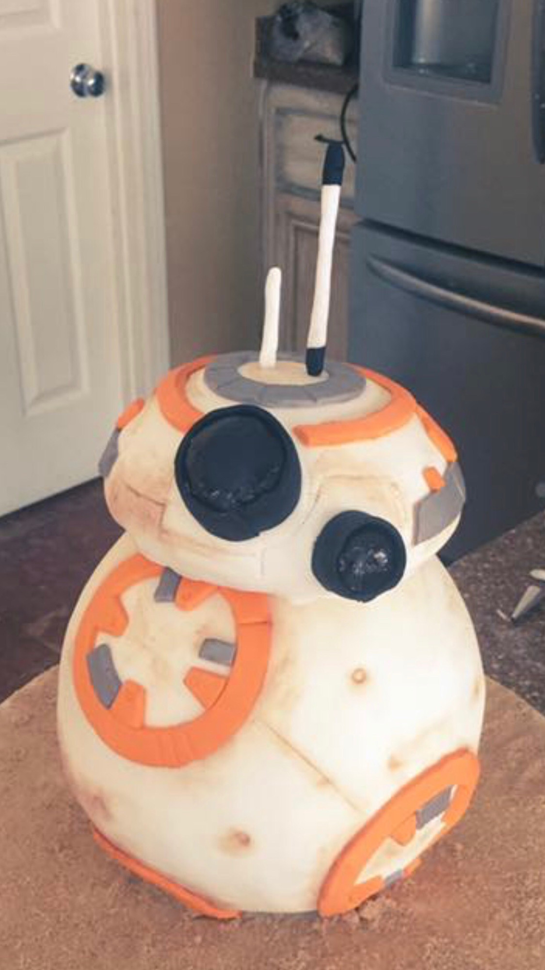 My wife baked (for a client) a BB-8 cake!