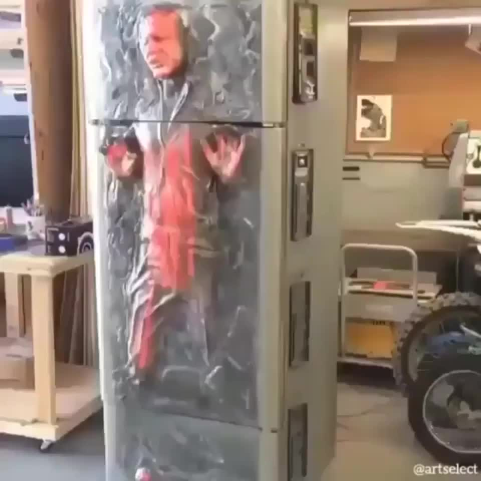 This Han Solo in carbonite refrigerator