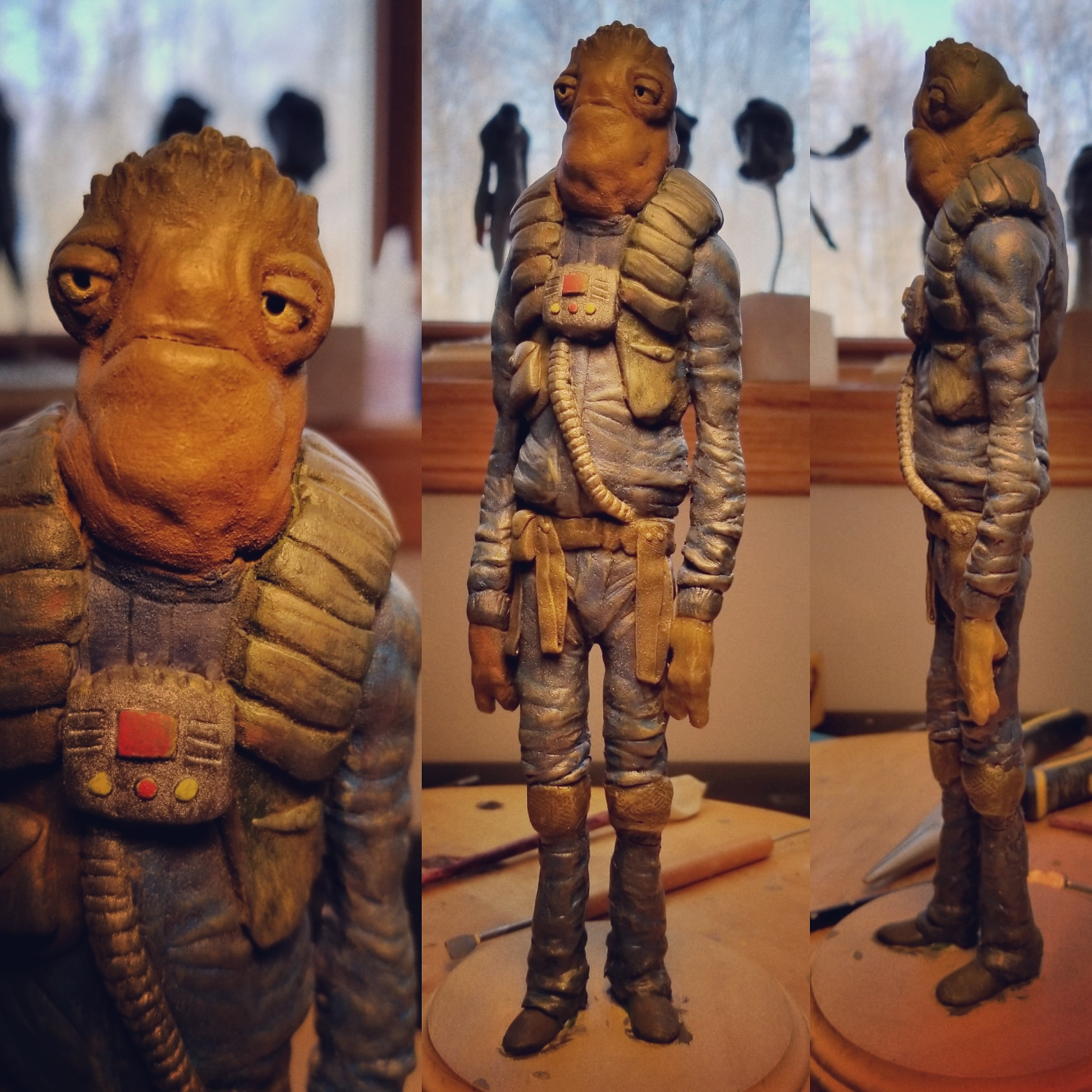 I made this sculpt two years ago, going to work on some more this year while we wait for IX!