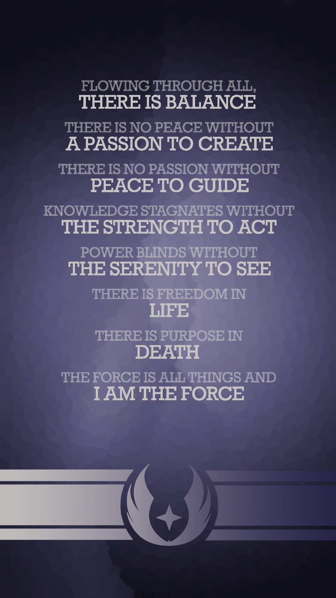 The Grey Jedi code is genuinely kind of beautiful