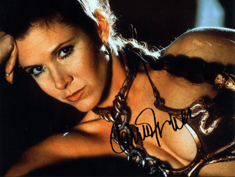This Leia poster autographed by Carrie made my 10th birthday