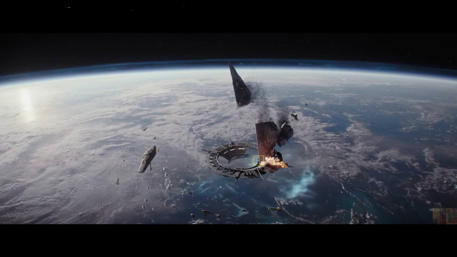 Only now -after having rewatched the Battle of Scarif like a hundred times- did I notice that the Hammerhead Corvette wa...
