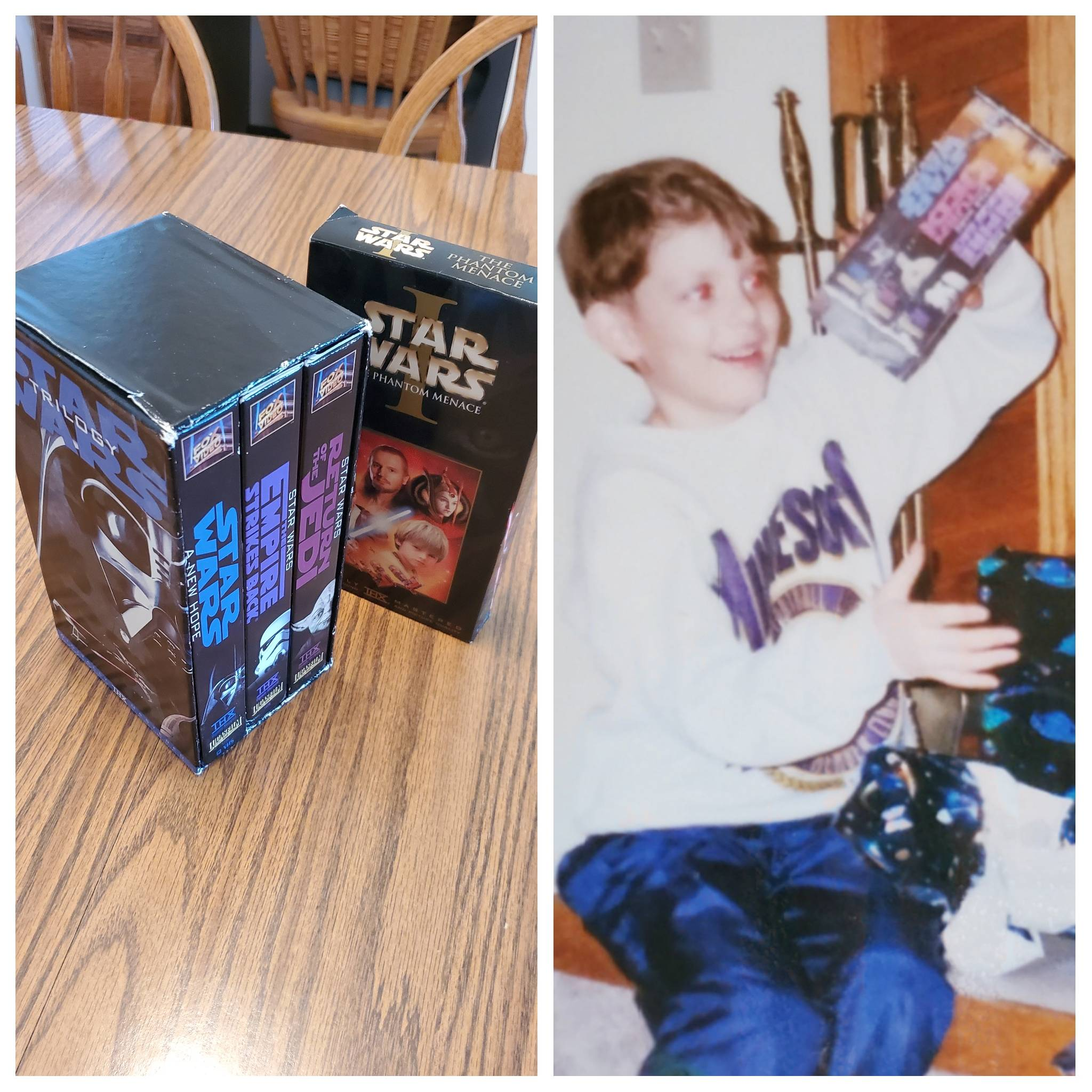 I was back home and going through old photo albums, found this pic of me getting the OT on VHS for my 7th birthday! I al...