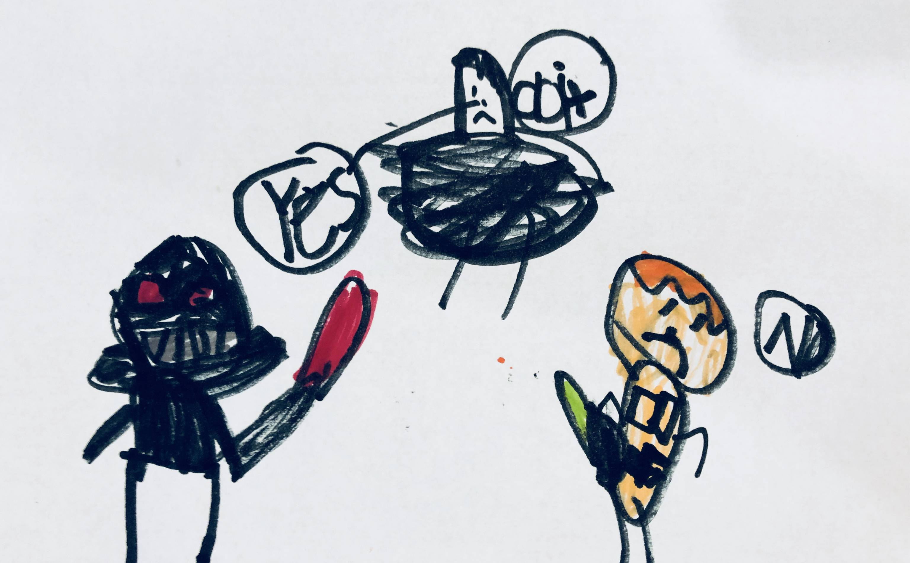 I love that my first grader is into Star Wars
