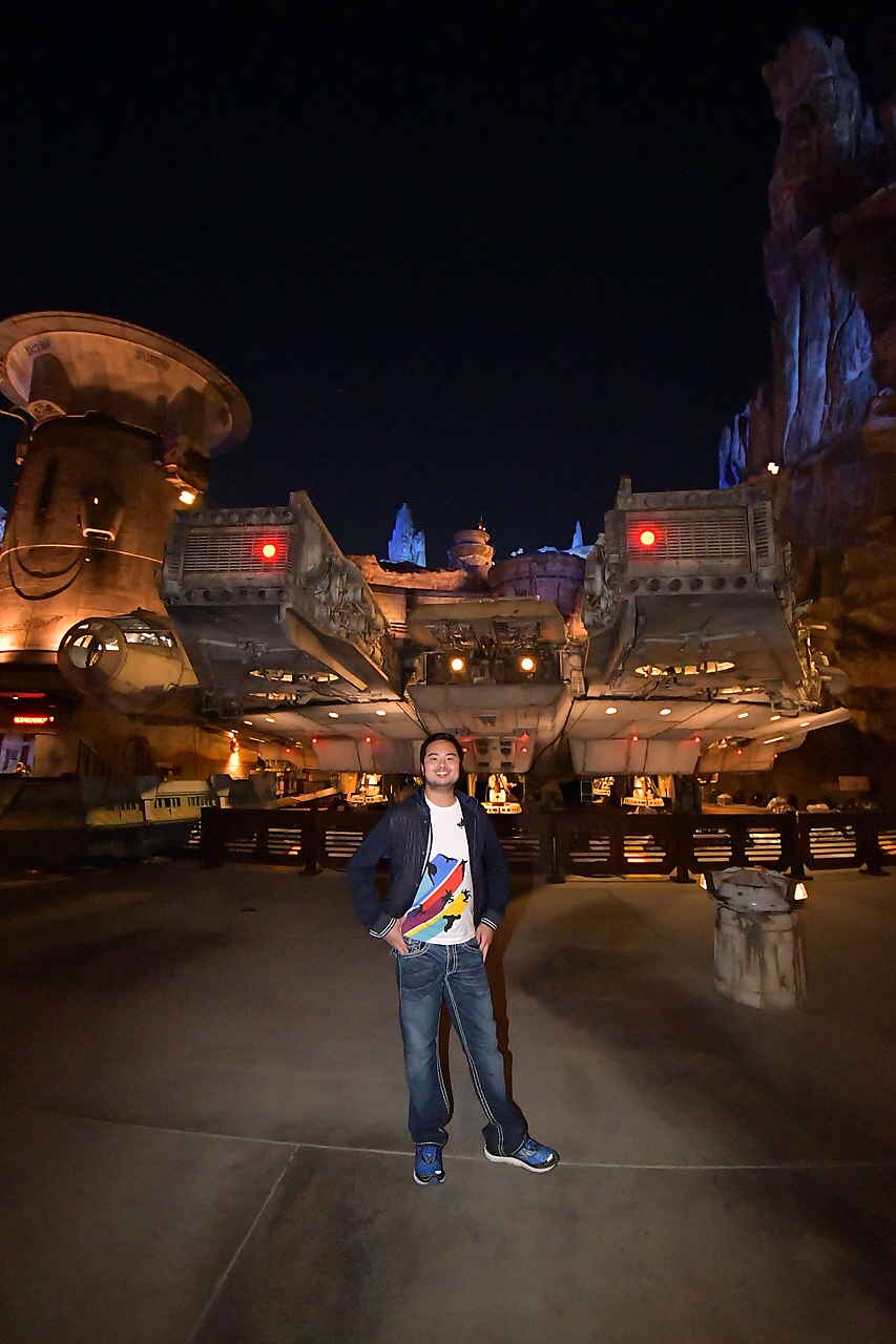 Had the Millennium Falcon all to myself for a night.