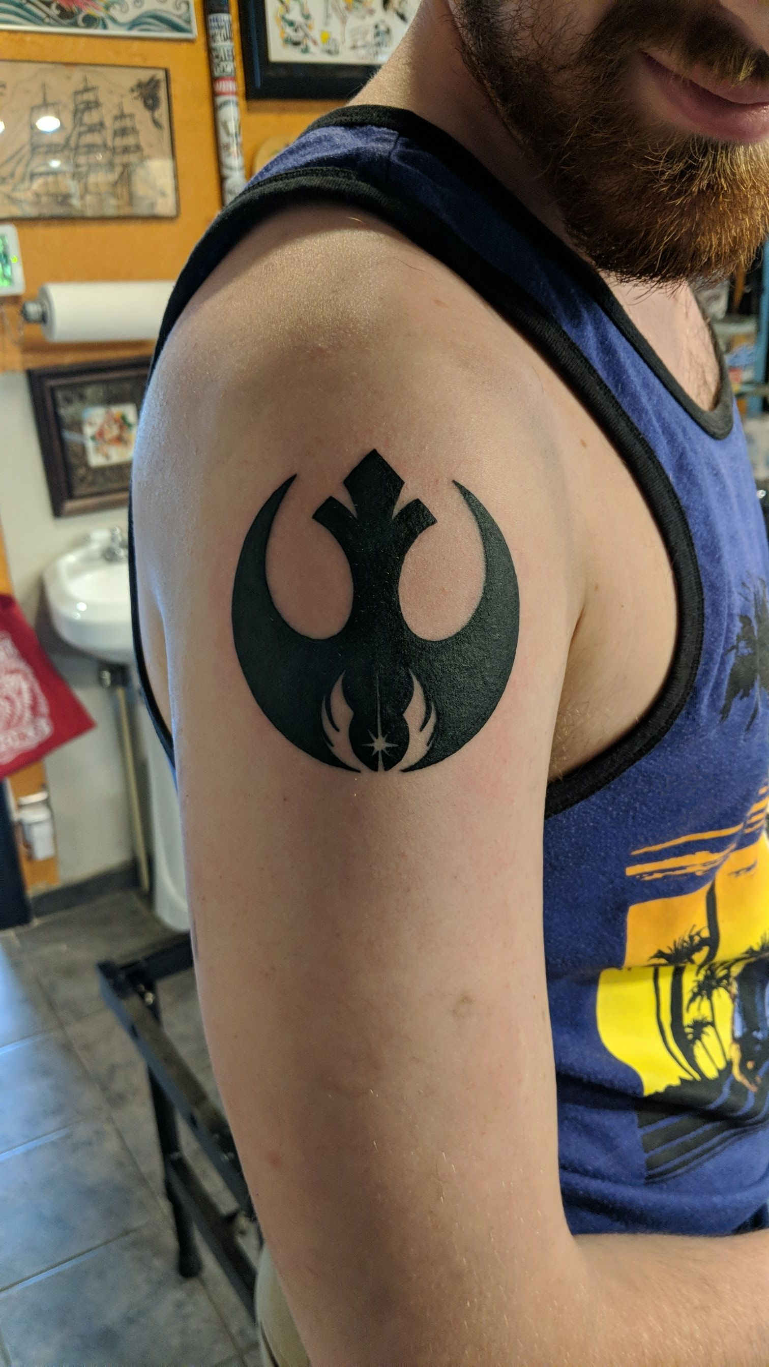 After years of wanting one, I finally broke down and got a tattoo yesterday! I\'m pretty pleased with it!