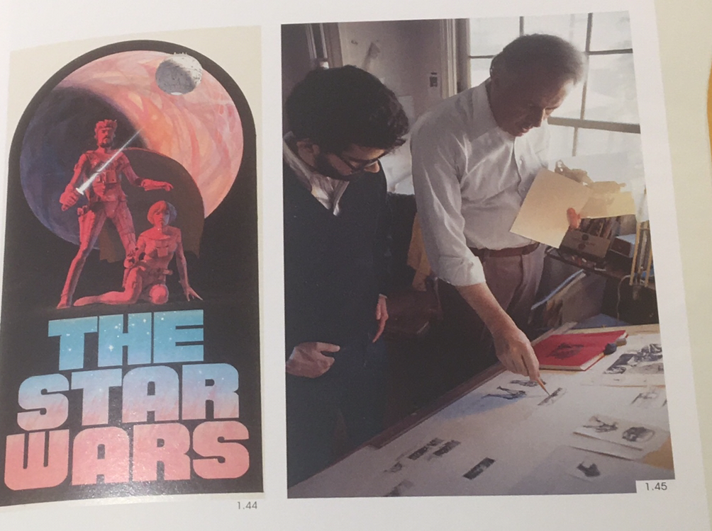 "Ralph McQuarrie and GL 1977 - met every two weeks, discussed ""what he'd like to see"""