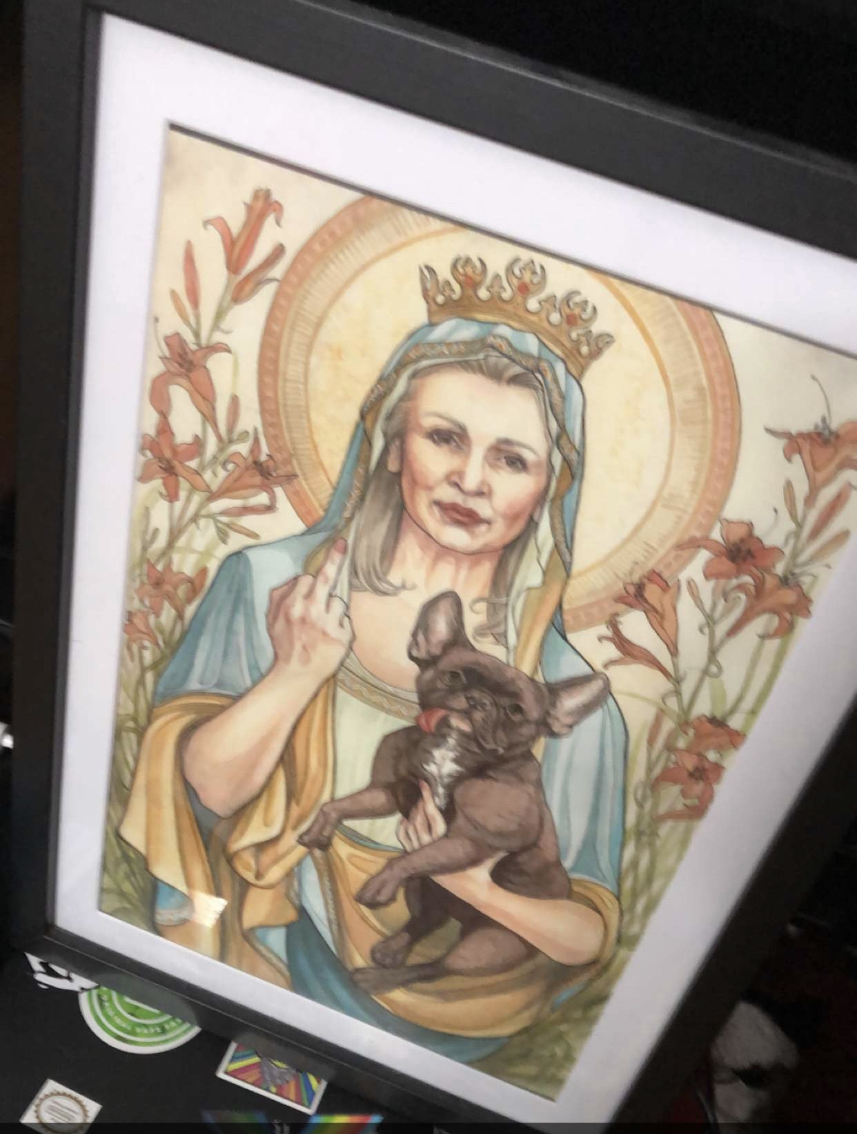 Probably the most epic Carrie Fisher portrait ever