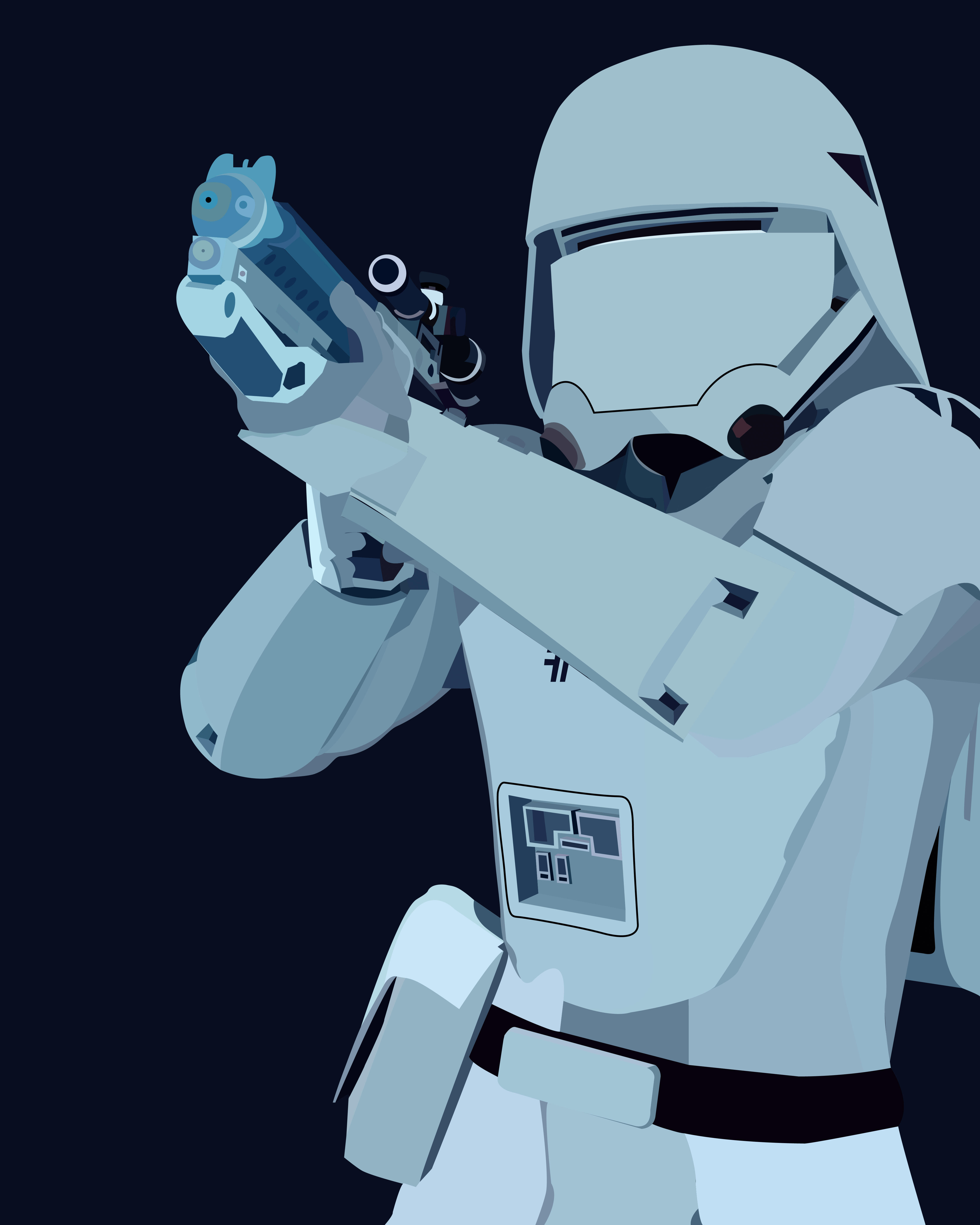 First Order Snow trooper (drawn in illustrator)