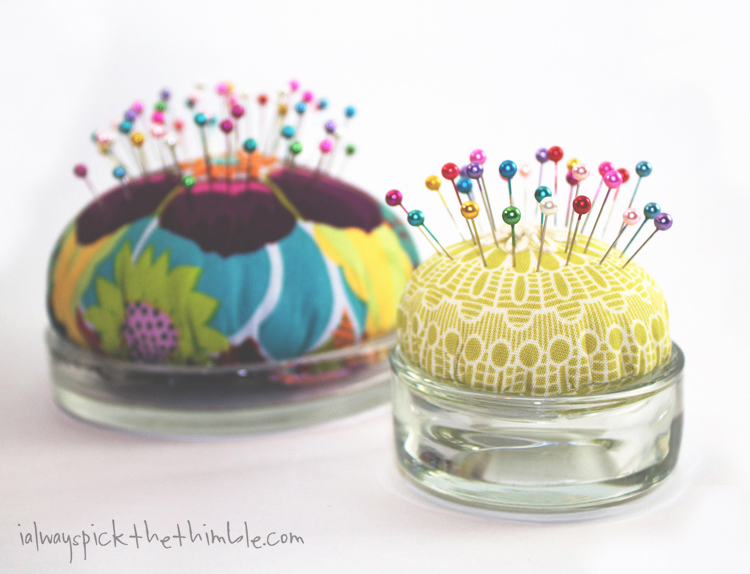 candle plate pincushion set of two