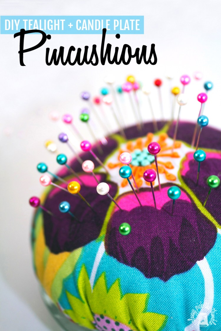 glass pincushion DIY tutorial