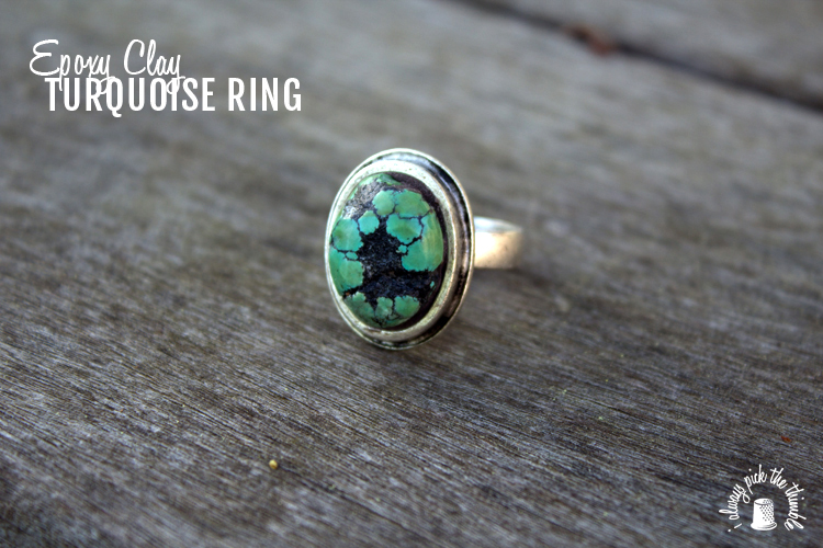 turquoise ring with logo
