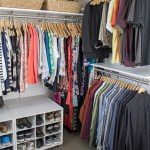 closet organization - utilizing different ceiling heights