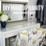 good morning make up vanity and hair caddy DIY