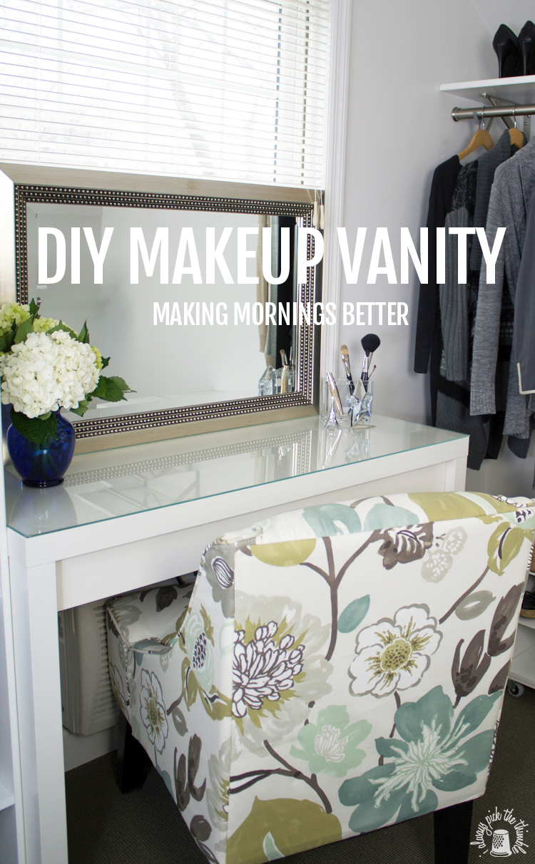 Awesome Good Morning Make Up Vanity And Hair Caddy DIY