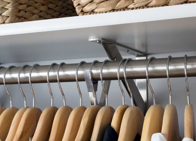 These Hangers Also Slide Past Their Support Brackets, Creating One Long  Continual Clothing Rod.
