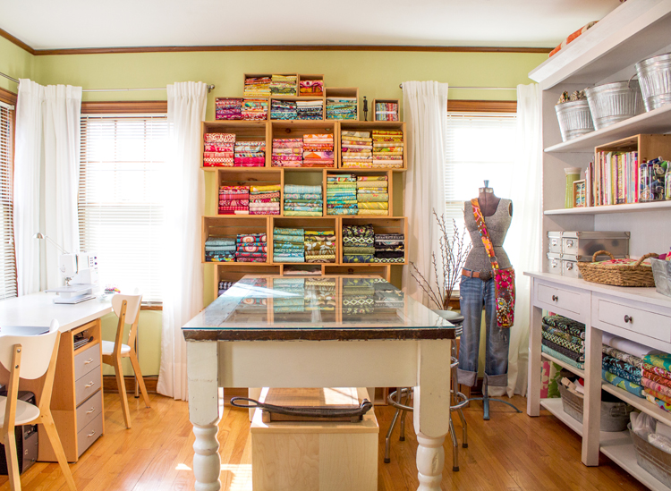 Sunny Sewing Room With How To On Folding Fabric