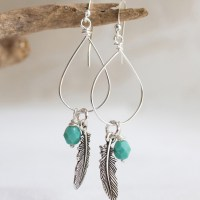 How to make Wire Wrap Drop Earrings – Knitters and Drummers will love them!