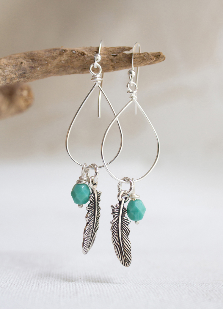 How to make Wire Wrap Drop Earrings