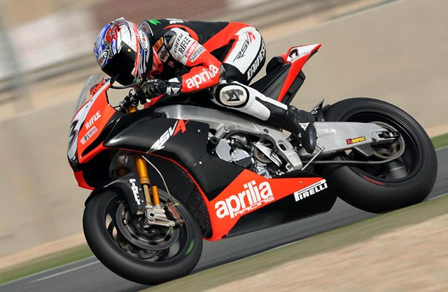 Max Biaggi and Eugene Laverty on WSBK 2012 Imola