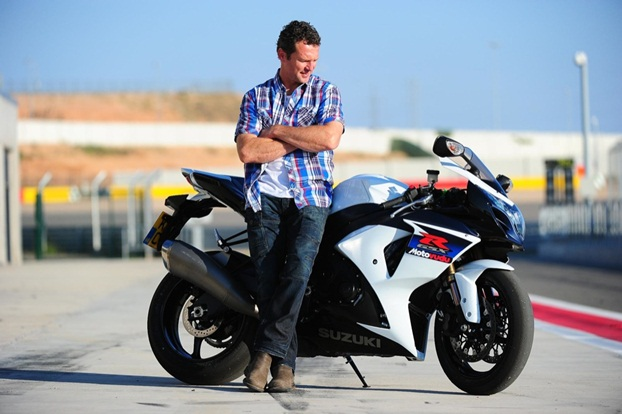 Simon Crafar and the GSX-R1000 electronics spoil the fun