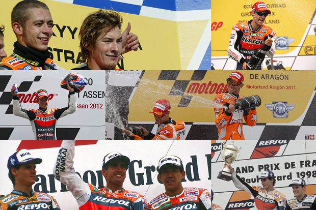 Repsol Honda celebrates 300 podiums