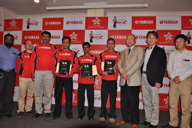 Yamaha announces winners of the National Technician Grand Prix 2012