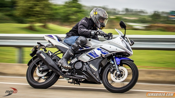 yamaha r15 handling and tyres review