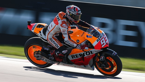 Marc Marquez takes record breaking pole position at Misano