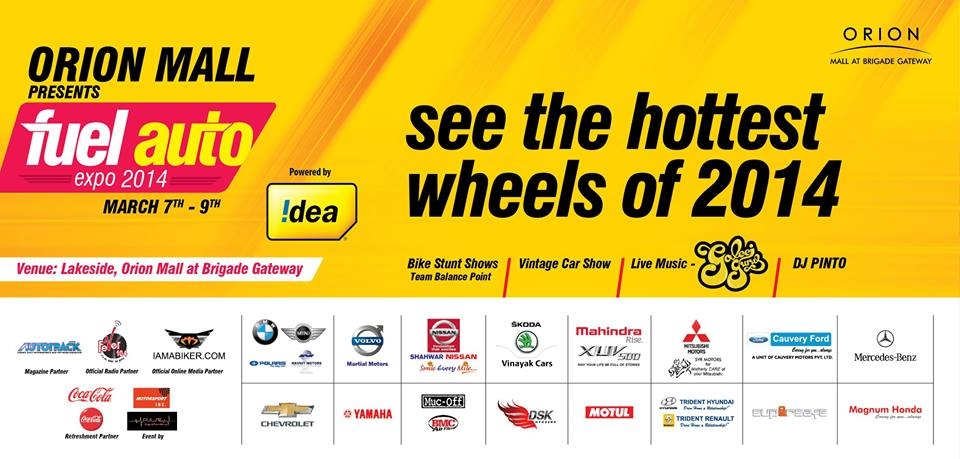 Fuel Auto Expo 2014 at Orion Mall Bangalore