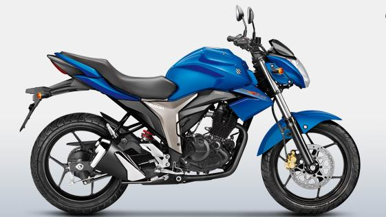 suzuki gixxer colour - Metallic Triton Blue