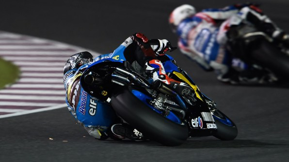 Scott Redding elbow down Estrella Galicia Marc VDS MotoGP Qatar 2015