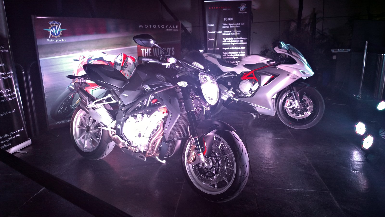 MV Agusta India Brutale 1090 and F3 800