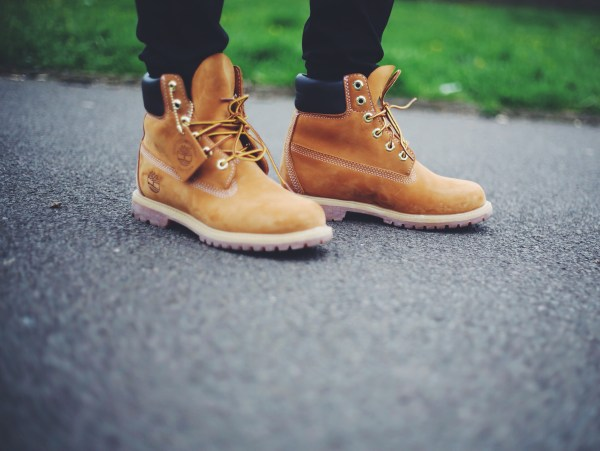 Wearing Timberlands