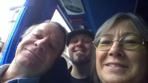 Selfie with Robin Hobb and Tom Taylor, 2014