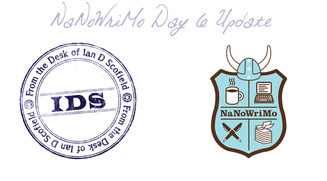 First NaNoWriMo Update – Day 6