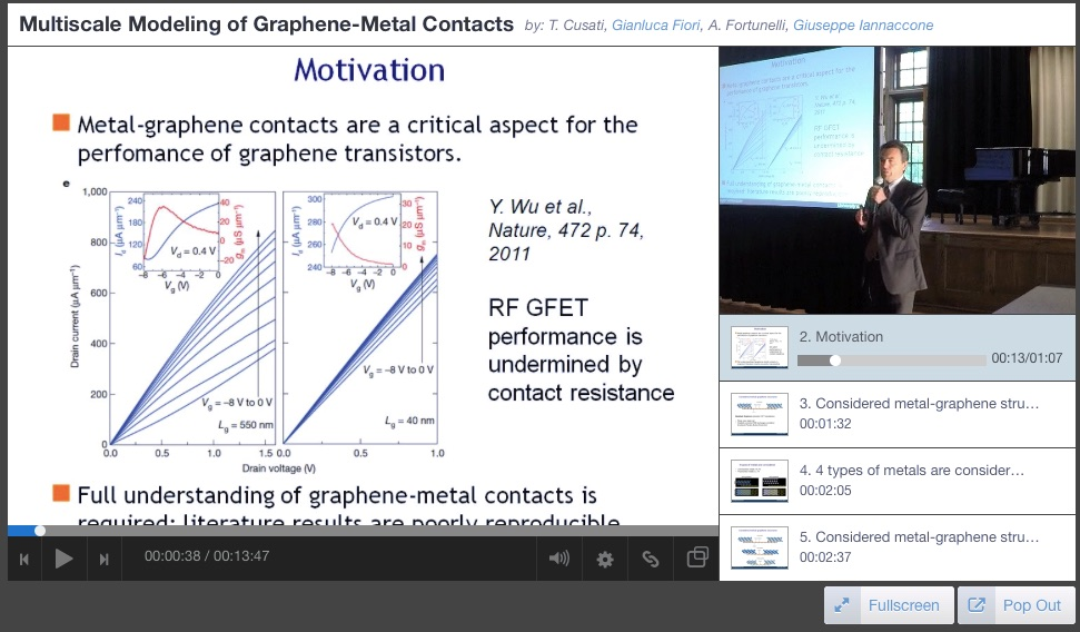 On the Nature of Graphene-Metal Contacts – Video from the IWCE 2015