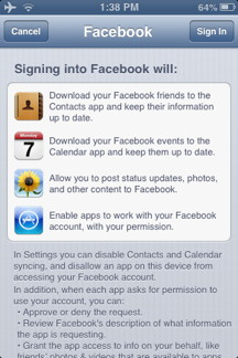 Facebook Access Notice