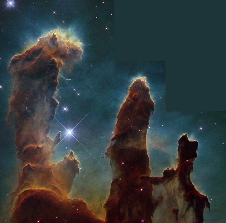 this-hubble-image-of-the-eagle-nebula-is-a-classic-but-do-you-know-where-to-look-check-out-the-top-of-the-tallest-pillar-and-youll-see-little-fingers-sticking-out-of-the-column-these-finger-looking-protrusions-are-called-