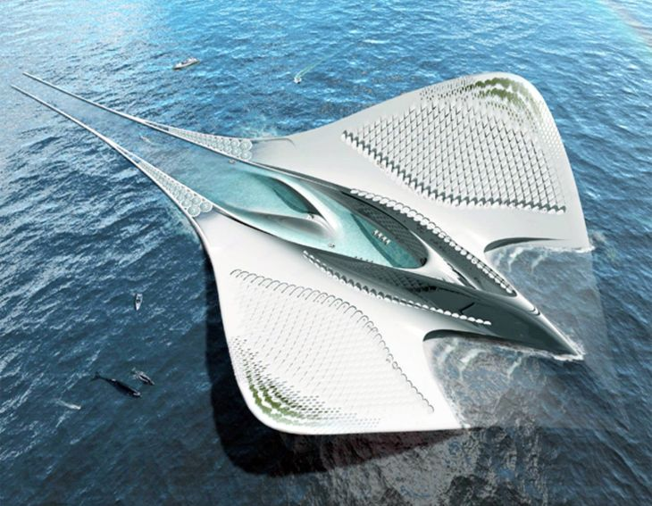 Jacques-Rougerie-Manta-Ray-Floating-City-4