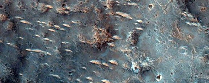 Possible Phyllosilicates in Ejecta of Small Crater in Tyrrhena Terra